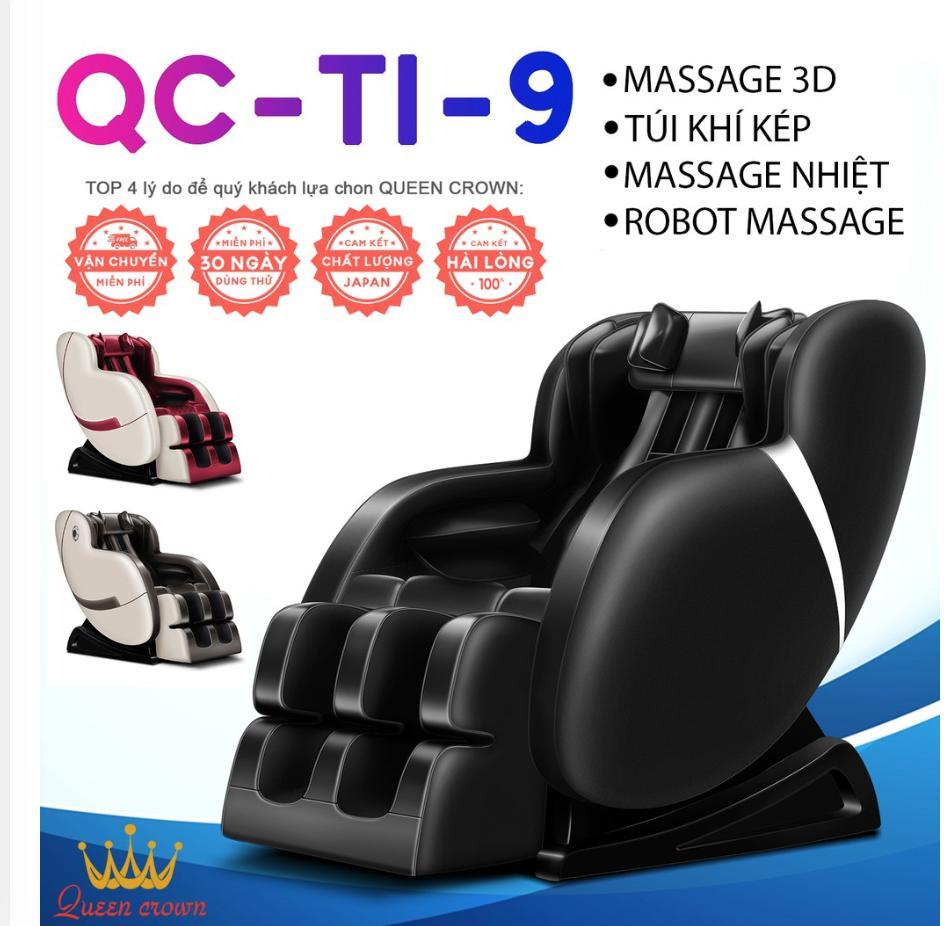 GHẾ MASSAGE QUEEN CROWN QC-T1-9 3D