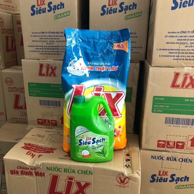 Coupon Khuyến Mại Bột Giặt Lix Đậm Đặc Hương Nước Hoa 5,5- Tặng Kèm 01 Can Nước Rửa Chén 1,5kg