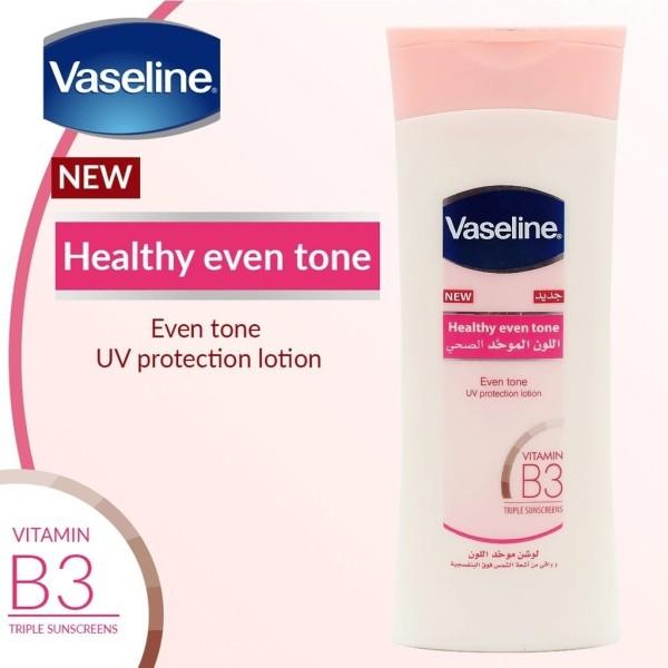 Sữa Dưỡng Thể Vaseline Heathy Even Tone Dưỡng Ẩm Làm Sáng Và Mềm Mịn Da-400ml