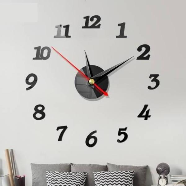 Nơi bán [Tặng PIN] Đồng hồ dán tường bộ số nhỏ - Đồng hồ treo tường trang trí - Đồng hồ DIY - DH56