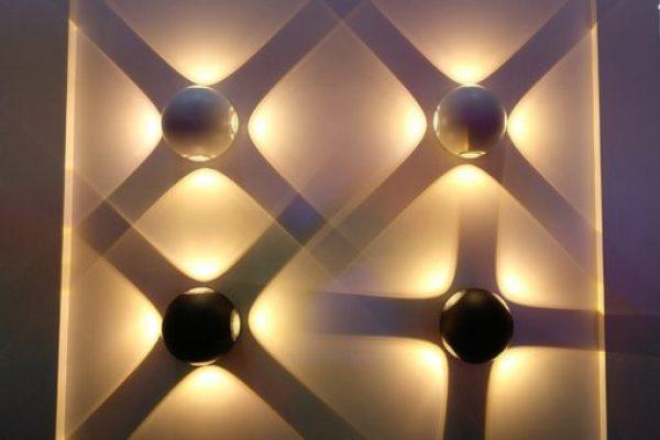 Đèn gắn tường quả cầu lồi màu trắng hắt 1,2,4 tia