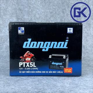 [BẢO HÀNH 6 THÁNG] Ắc quy xe máy khô 12v-3.5ah lùn Đồng Nai PINACO (PTX5L) thumbnail
