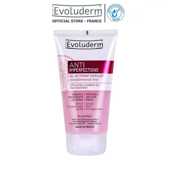 Gel rửa mặt tẩy tế bào chết Evoluderm giúp làm sạch giảm mụn đầu đen dành cho da nhờn mụn 150ml giá rẻ