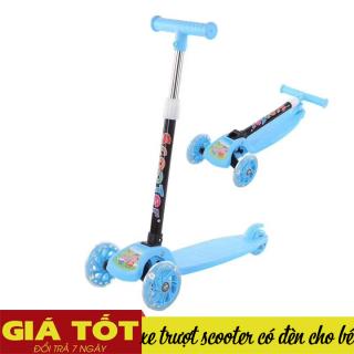 [XE SCOOTER] Xe trượt Scooter,có đèn led, Xe trượt - đồ chơi cho bé, từ 3 - 8 tuổi Chịu được tải trọng 100kg có 3 bánh. Đồ chơi hoạt động ngoài trời cho bé- Hỗ trợ đổi trả 7 ngày thumbnail
