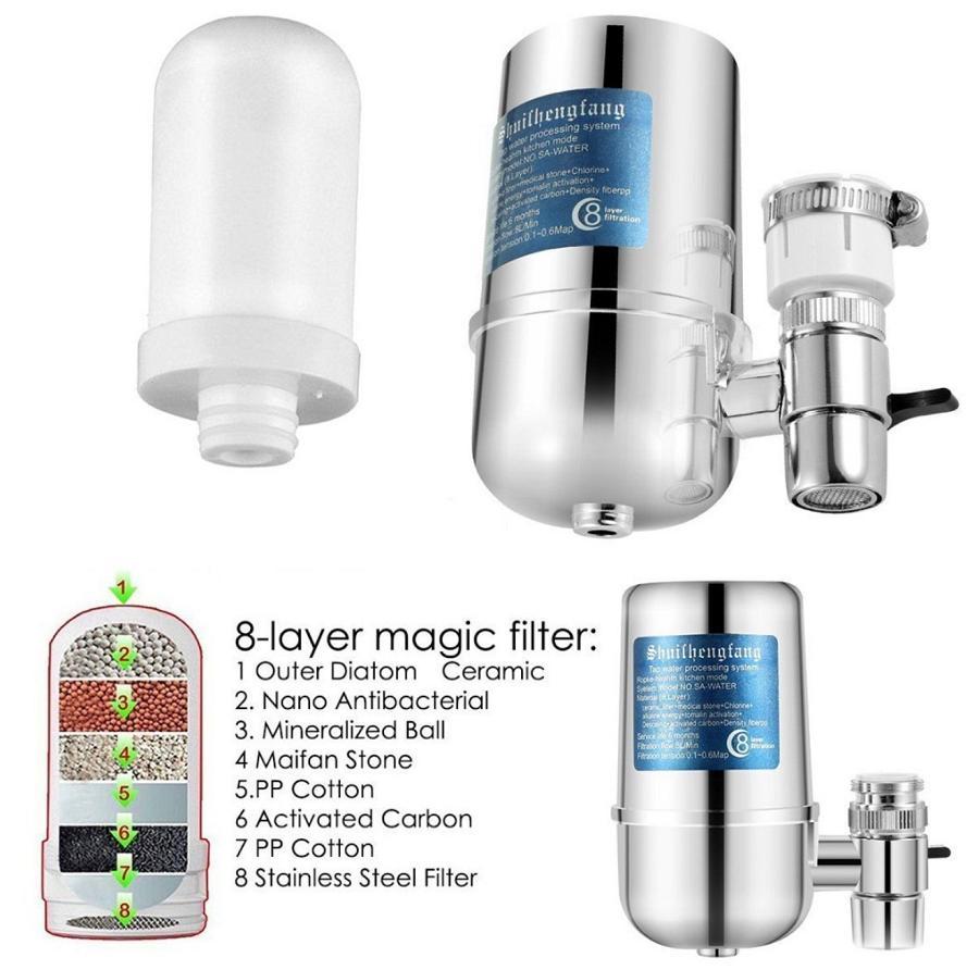 Giá Đầu lọc nước tại vòi, Thiết bị lọc nước khử mùi, khử màu, khử tạp chất