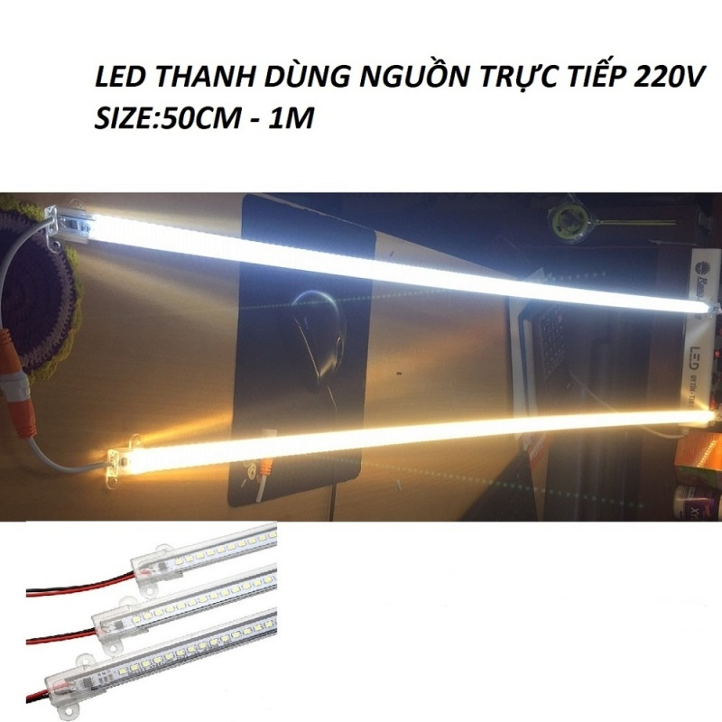 LED THANH ĐIỆN TRỰC TIẾP 220V DÀI 50CM VÀ 100CM