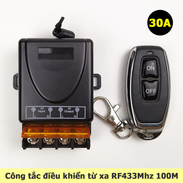 Công tắc điều khiển từ xa RF 433Mhz 100M 30A
