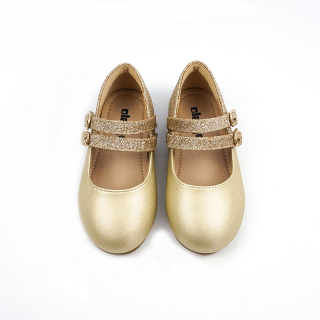 21 Giày Bé Gái Mẫu Mùa Xuân Công Chúa Giày Da Kim Sa Bé Gái Đế Mềm Vàng Giày Diễn Xuất Phong Cách Tây Lễ Phục Giày Trẻ Em thumbnail