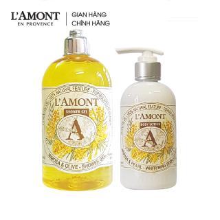 Combo Sữa tắm Mimosa 500ml và Sữa dưỡng thể Mimosa 250ml - L amont En Provence thumbnail