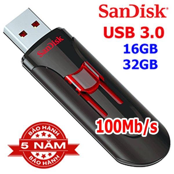 USB 16GB 3.0 Up to 130MB/s Sandisk Cruzer Glide CZ600 bh 5 năm