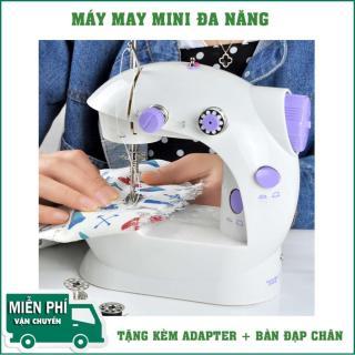 Máy May Mini Có Vắt Sổ, có Đôi Ren và 2 Tốc Độ Kiểm Soát 6W, Hoạt Động Êm Ái Dễ Dàng Thao Tác Sử Dụng May Vá Riêng Cho Các Mẹ Tại Nhà.Bảo Hành 1 ĐỔI 1. thumbnail