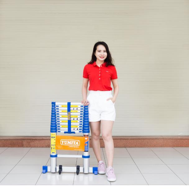 Thang nhôm rút đơn YUMITA Nhật Bản 3,8m