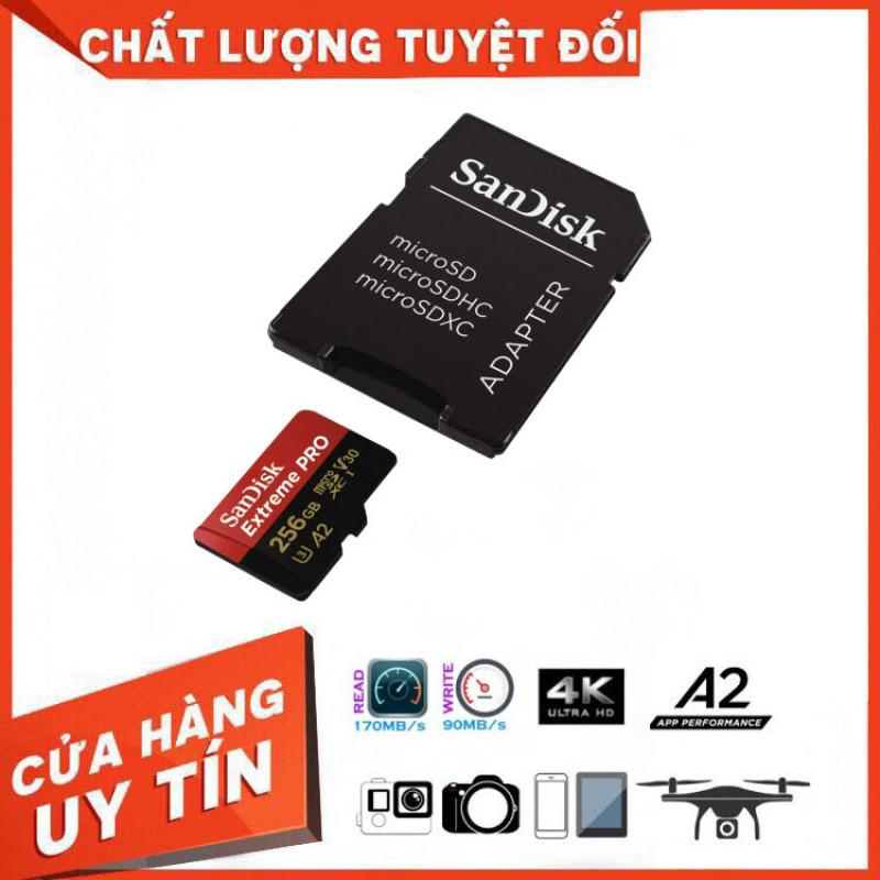 [SIÊU KHUYỄN MÁI] Thẻ Nhớ MicroSDXC SanDisk Extreme Pro V30 A2 256GB 170MB/s SDSQXCZ-256G-GN6MA - Bảo Hành 3 Năm Miên phí Đổi trả 7 Ngày