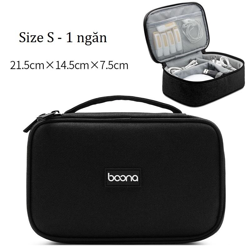 Bảng giá Túi đựng cáp sạc phụ kiện laptop Baona (Boona) vuông nhiều cỡ Phong Vũ