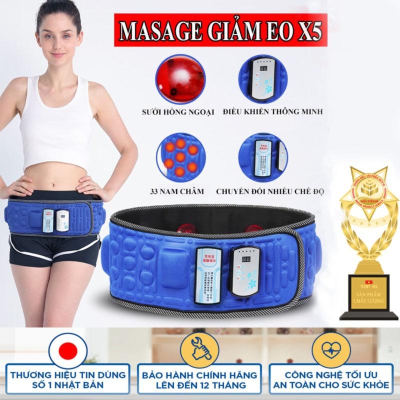 Đai Massage X5 Loại xịn, Máy Đánh Tan Mỡ bụng , Masage Đa Năng Cao Cấp - Bảo hành uy tín 12 tháng trên toàn quốc