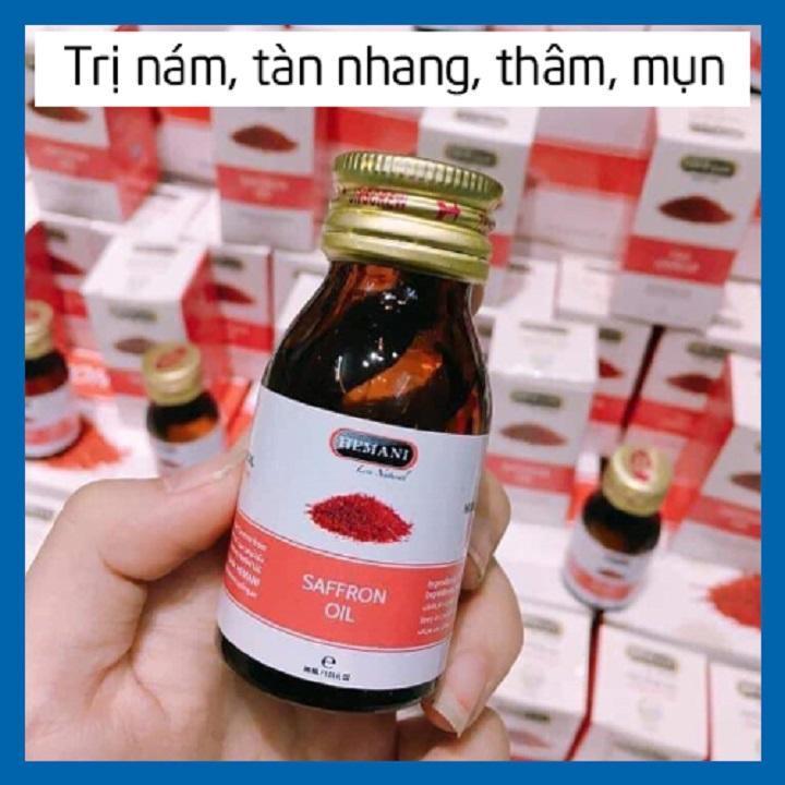 Tinh dầu nhụy hoa nghệ tây 30 ml Giảm nám, mụn, tàn nhang, quầng thâm - Saffron Oil Hemani 30ml cao cấp