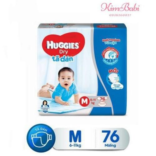 Tã Dán Huggies Dry Super M76/L68/XL62 Giá Giảm