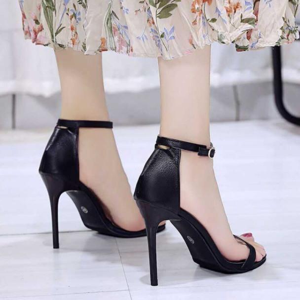 giày cao gót/ sandal nữ gót đinh 9cm da mềm, gót chắc chắn siêu đẹp giá rẻ