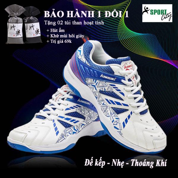 Giày cầu lông nam nữ Kawasaki K080 mẫu mới, chống lật cổ chân, đế kếp,  đủ size, - Giày bóng chuyền nam - Giày thể thao nam - sprotcity