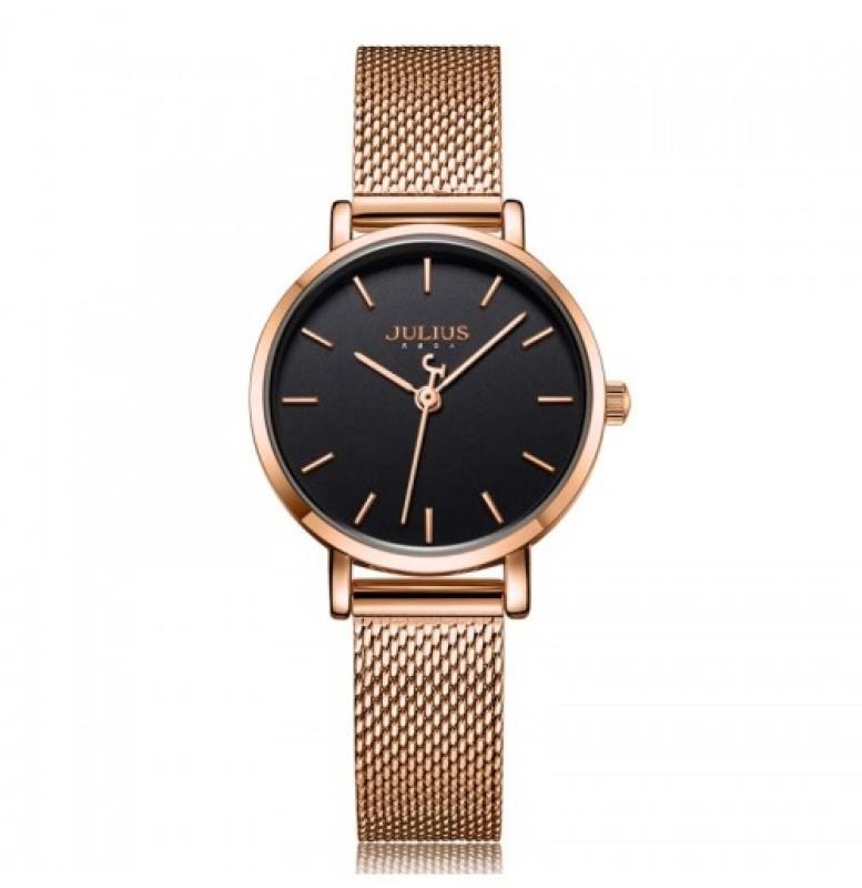 Đồng hồ nữ Julius Hàn Quốc JA-1164L dây thép nhiều màu