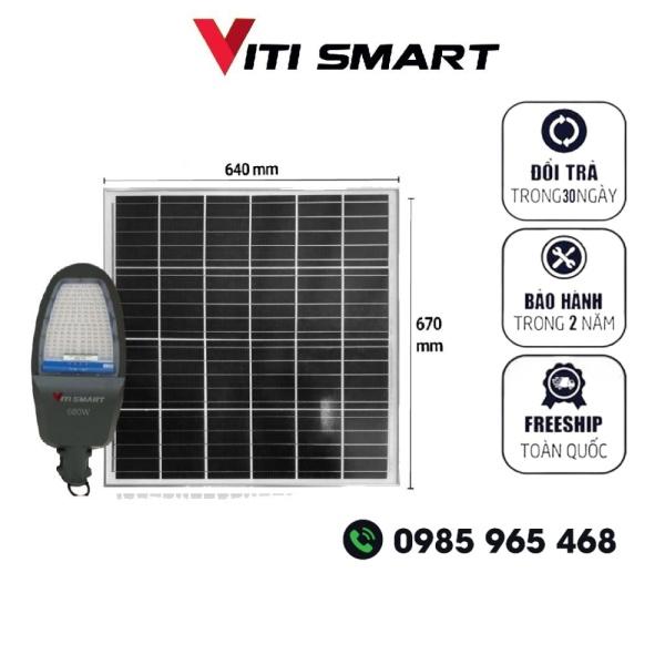 Bảng giá Đèn năng lượng mặt trời công trình hệ thống kho xưởng VITI SMART công suất 600W, Den nang luong mat troi cong trinh kho xuong