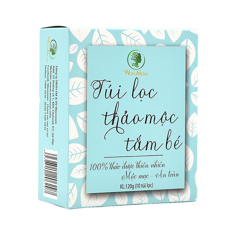 Hộp 10 Túi Lọc Thảo Mộc Tắm Cho Bé Wonmom 120Gr Ngừa Ham Ngứa, Mát Da, Tăng Cường Sức Đề Kháng Da Trẻ - Chăm Sóc Làn Da Trẻ Nhỏ giá rẻ