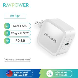 Củ sạc USB C, RAVPower 30W PD 3.0 GaN Tech Type C củ sạc nhanh Có thể gập lại, tương thích với iPhone 12 Mini Pro Max MacBook Air iPad Pro, Galaxy, Nintendo v.v. RP-PC120 thumbnail