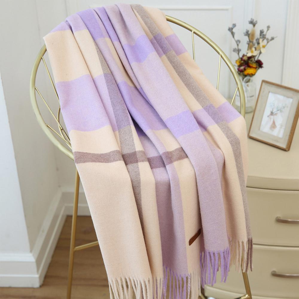 Giá bán khăn quàng cổ cho phụ nữ kẻ sọc dài Long mềm Winter Shawl Shawl
