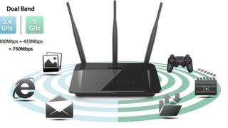 Thiết bị định tuyến có chức năng thu phát sóng 2.4Ghz 5Ghz hiệu D-LINK DIR - 809 thumbnail