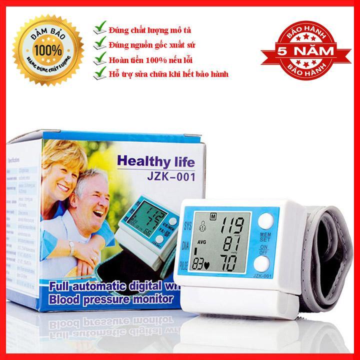Máy đo huyết áp Healthy life JZK-001 - Máy đo nhịp tim - Máy đo huyết áp bắp tay bán chạy