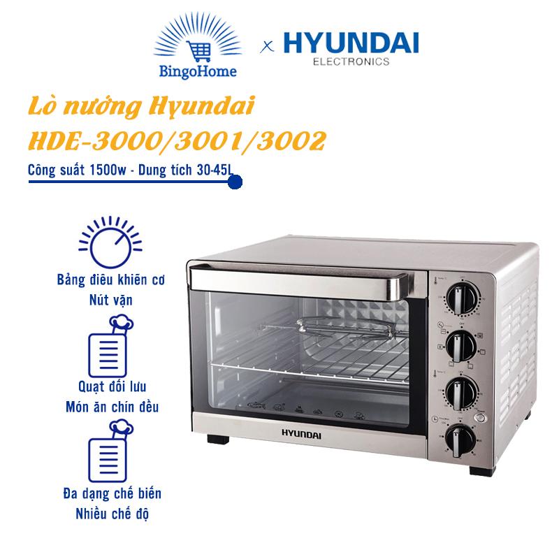 Lò nướng HYUNDAI HDE 3000/3001/3002, Dung tích 30-35-45L