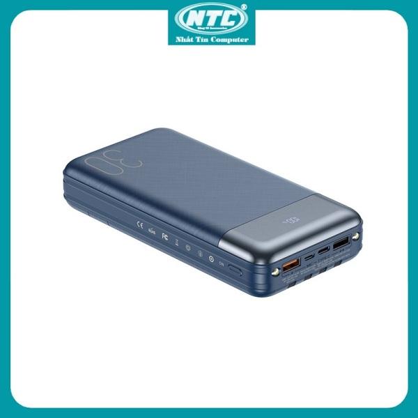Pin sạc dự phòng Remax RPP-199 30000mAh QC22.5W PD20W 3 Inputs 6 Outputs lõi Li-Polymer (Xanh) - Hãng phân phối chính thức - Nhất Tín Computer