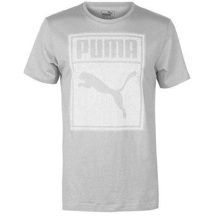Áo Thun Thể Thao Nam Puma Box QT (màu Grey/White) - Hàng Chuẩn Châu Âu Giá Tốt Không Nên Bỏ Lỡ