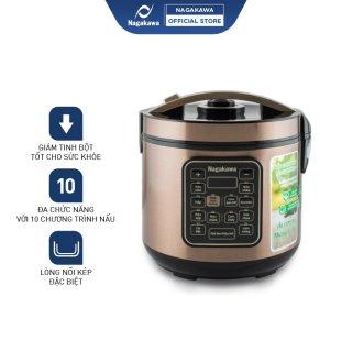 Nồi cơm điện tử NAGAKAWA NAG0120 (dung tích 1,8 L) - Công suất 900W - 10 chế độ nấu - Bảo hành 12 tháng - Hàng Chính Hãng thumbnail