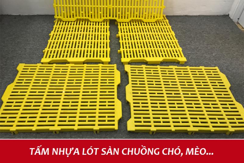 bộ 6 Tấm lót sàn nhựa vệ sinh cho chó mèo( 40x55cm X 6 TẤM màu VÀNG)-HÀ NỘI