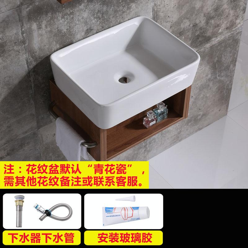 Non-Porous Wall-Mounted Wash Basin Face Wash Basin Bathroom Simplicity Wall-Mounted Wash Basin Ceramic Mini Small Size