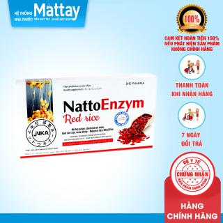 NattoEnzym Red Rice - DHG Pharma - Hộp 20 Viên - Hỗ Trợ Giảm Cholesterol Máu, Làm Tan Cục Máu Đông thumbnail