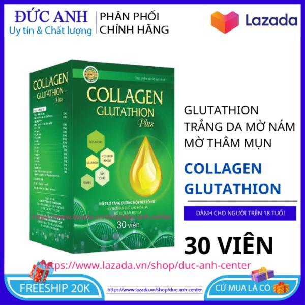 Viên uống Collagen Glutathion Plus giúp da khỏe đẹp căng bóng chống lão hóa hộp 30 viên HSD 2023 - đức anh center giá rẻ