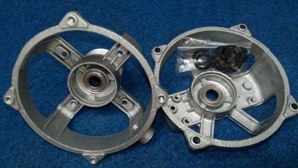 Khung motor quạt gió dân dụng, đã đóng sẳn vòng bi 1680, dùng thay thế khung có bạc thau thông dụng.