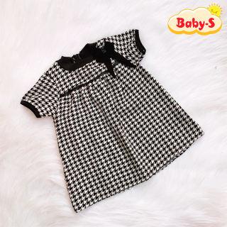 Đầm dạ nơ đen cao cấp tay phồng sang trọng cho bé 1-7 tuổi chất dạ đan dày dặn có lót trong thiết kế đáng yêu Baby-S – SD073