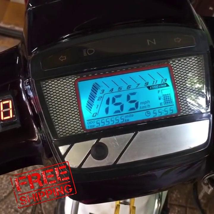 [MIỄN SHIP CHO BẠN] Đồng hồ điện tử LCD dành cho xe-dream hiển thị led 7 màu với nhiều tính năng hiện đại FS285