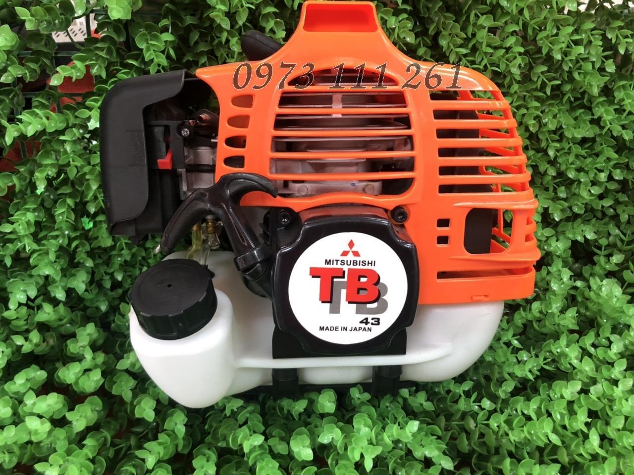 Đầu động cơ máy cắt cỏ 2 thì Mitsubishi TB43 mẫu_mã mới 2019