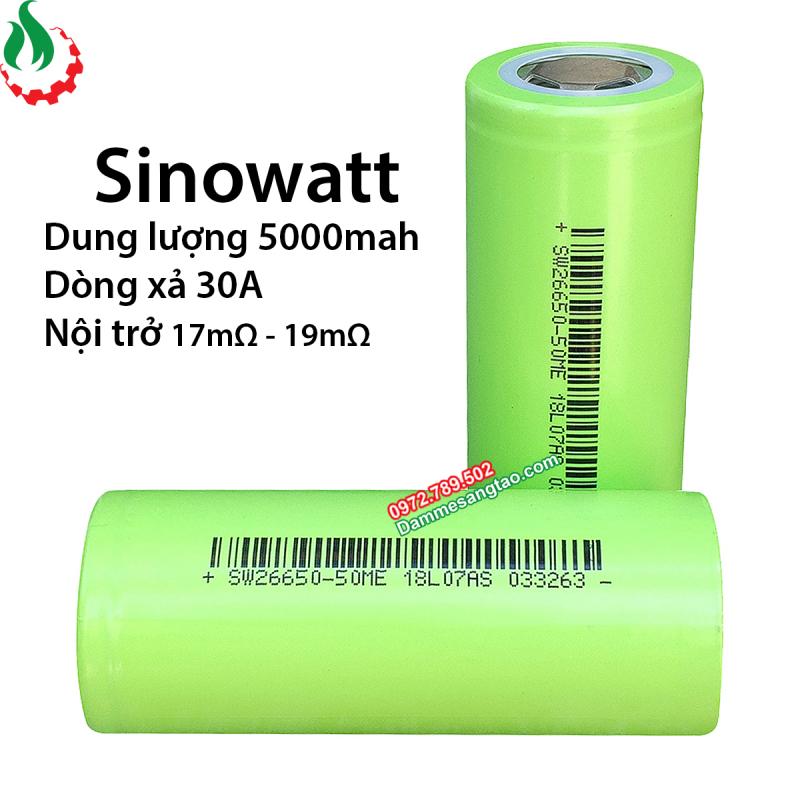 DMST Cell pin 26650 Sinowatt 5000mah - Xả 20A