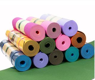 Thảm Tập Yoga 2 Lớp Cao Cấp, Thảm tập gym và yoga TPE 2 lớp, Thảm Tập Gym, Thảm Yoga - Thảm lót tập thể dục dài 1,85M rộng 0,61M dày 6mm. Thảm dẻo, đàn hồi tốt, chất liệu an toàn khi tiếp xúc với da có thể sử dụng lâu dài. thumbnail