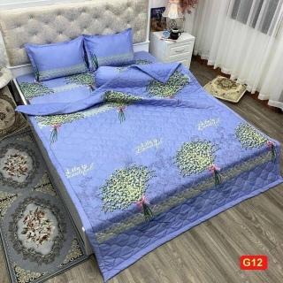 [GIÁ SỐC] Chăn hè trần bông 1.6x2m cotton cao cấp mẫu hoa cúc nụ - chăn mền - mềm tuyết - chăn hè cotton thumbnail