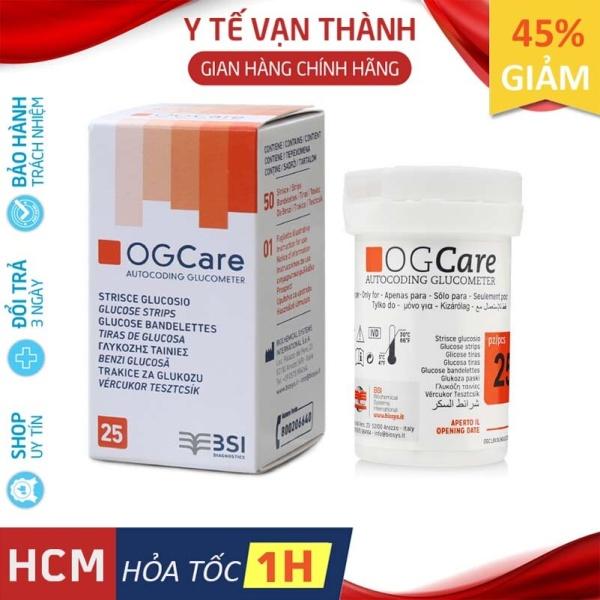 ✅ Que Thử Đường Huyết: Ogcare (Ý - Italia) Hạn sử dụng xa (1-2 năm) - VT0051 [ Y Tế Vạn Thành ] cao cấp
