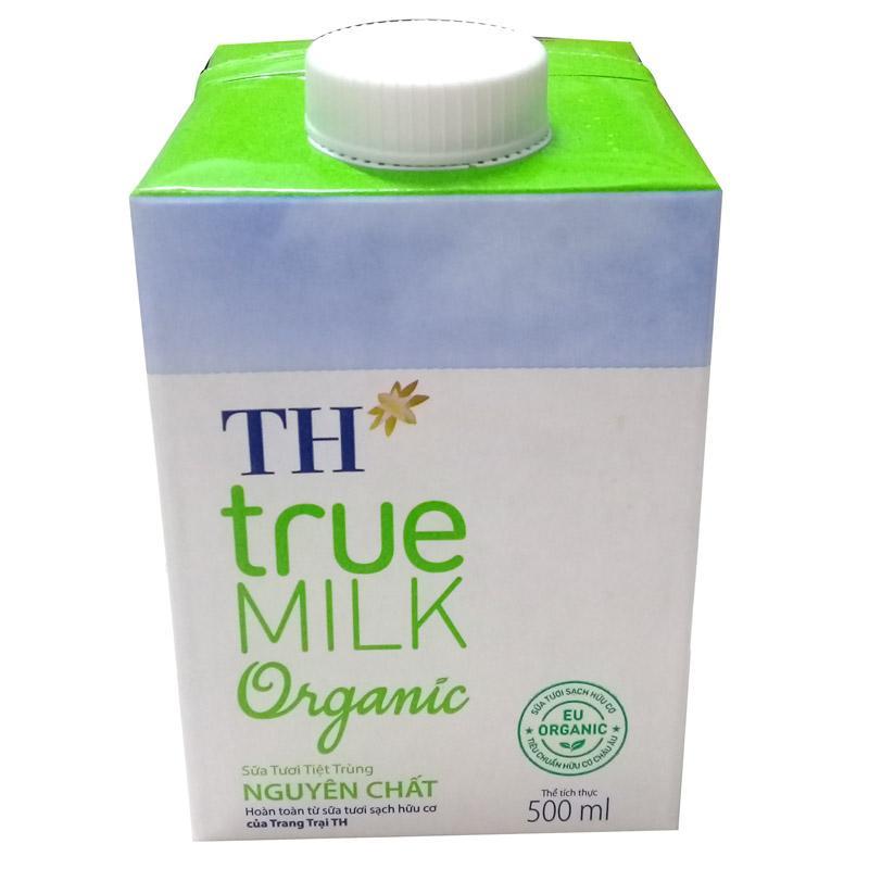 Sữa tiệt trùng TH true milk Organic hộp 500ml