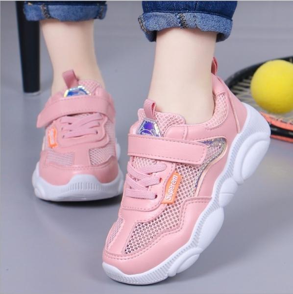 Giày thể thao bé gái dạng lưới, êm chân thoáng mát cho bé từ 3 đến 14 tuổi TT0023