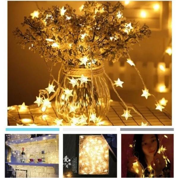Bảng giá Dây đèn ngôi sao trang trí - Đèn vàng ấm
