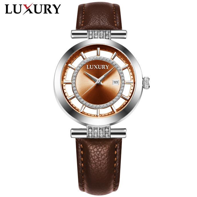 (Độc Quyền) Đồng hồ Nữ LUXURY PARIS - Dây Da Thật Cao Cấp - Hàng Nhập Từ Pháp bán chạy